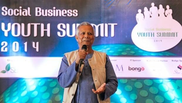 Dr. Muhammad Yunus at Social Business Youth Summit 2014